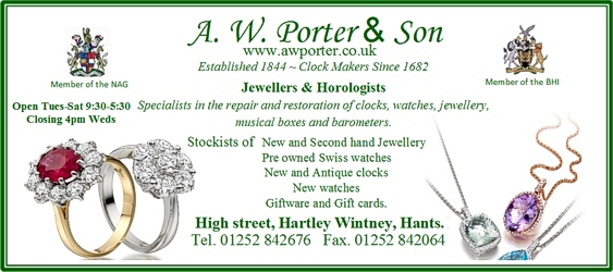 A W Porter Hartley Wintney