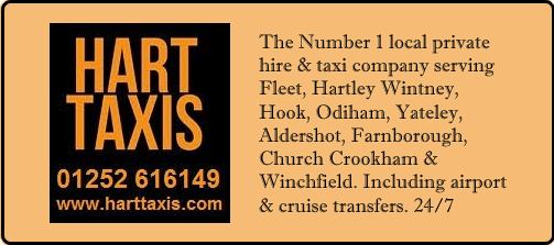 Hart Taxis serving Fleet and Hartley Wintney