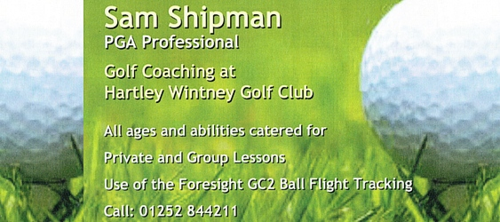 Sam Shipman PGA Golf Pro at Hartley Wintney