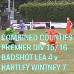Combined Counties League 2015/16, Badshot Lea v Hartley Wintney